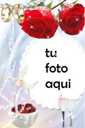Flores Para Matrimonio Y Compromiso Marco Para Foto - Flores Para Matrimonio Y Compromiso Marco Para Foto