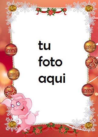 Frontera De Marco De Año Nuevo Piglet Sonriente Marco Para Foto - Frontera De Marco De Año Nuevo Piglet Sonriente Marco Para Foto