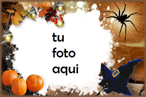 Halloween Con Gatito Negro Marco Para Foto - Halloween Con Gatito Negro Marco Para Foto