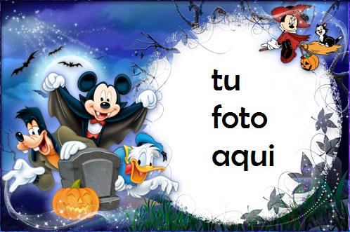 Halloween Con Mickey Y Sus Amigos Marco Para Foto - Halloween Con Mickey Y Sus Amigos Marco Para Foto