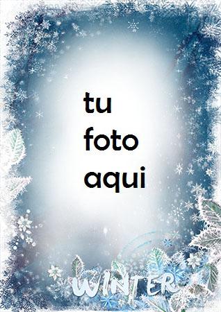 Heladas De Invierno En Tu Ventana Marco Para Foto - Heladas De Invierno En Tu Ventana Marco Para Foto