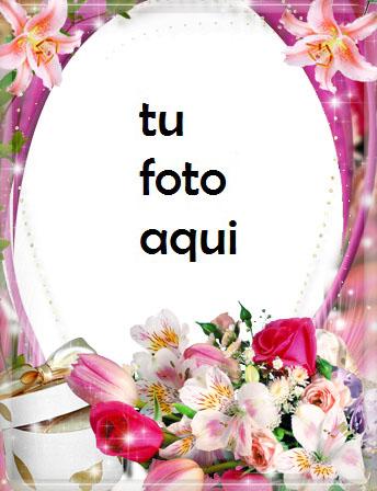 Hermosas flores de noche Marco Para Foto - Hermosas flores de noche Marco Para Foto