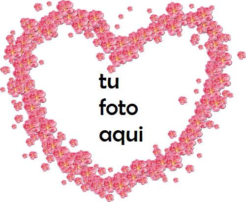 Hermosas flores rojas en forma de corazón Marco Para Foto - Hermosas flores rojas en forma de corazón Marco Para Foto