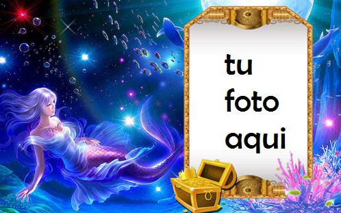 Isla Sirena Y Tesoro Marco Para Foto - Isla Sirena Y Tesoro Marco Para Foto