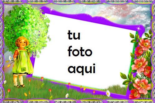 Jardín de flores Marco Para Foto - Jardín de flores Marco Para Foto