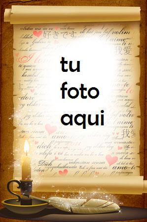 La Carta De Amor Mas Bella Marco Para Foto - La Carta De Amor Mas Bella Marco Para Foto