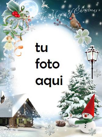 La Magia De La Navidad Marco Para Foto - La Magia De La Navidad Marco Para Foto