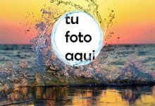 La Puesta De Sol Más Hermosa En La Playa. Marco Para Foto 220x150 - La Puesta De Sol Más Hermosa En La Playa. Marco Para Foto
