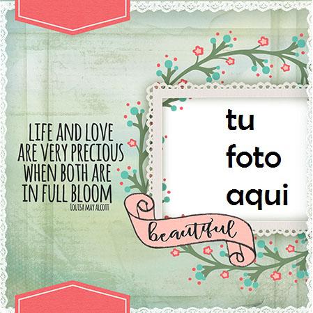 La vida esta llena de amor los momentos mas hermosos y felices Marco Para Foto - La vida esta llena de amor los momentos mas hermosos y felices Marco Para Foto