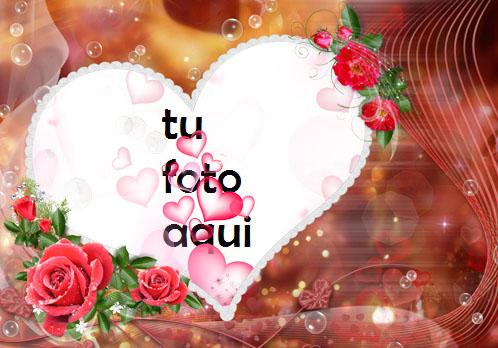 Los Momentos Más Felices Hermosos Corazones Y Hermosas Flores Rojas Marco Para Foto - Los Momentos Más Felices Hermosos Corazones Y Hermosas Flores Rojas Marco Para Foto