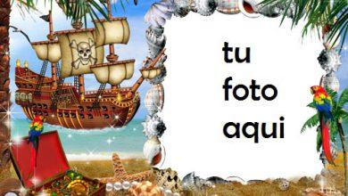 Mar Pirata E Isla Del Tesoro Marcos Para Foto 390x220 - Mar Pirata E Isla Del Tesoro Marcos Para Foto
