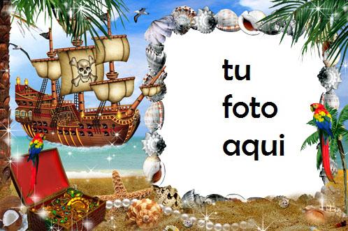 Mar Pirata E Isla Del Tesoro Marcos Para Foto - Mar Pirata E Isla Del Tesoro Marcos Para Foto