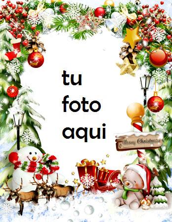 Marco Con Campanas De Nieve Y Año Nuevo Marco Para Foto - Marco Con Campanas De Nieve Y Año Nuevo Marco Para Foto