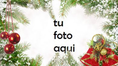 Photo of Marco De Bolas Rojas Y Decoraciones Verdes Para La Víspera De Año Nuevo Marco Para Foto