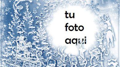 Marco De Ciervo Y Santa Claus Marco Para Foto 390x220 - Marco De Ciervo Y Santa Claus Marco Para Foto