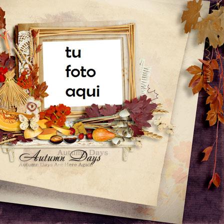 Marco Para Foto Días de otoño Otoño Marcos - Marco Para Foto Días de otoño Otoño Marcos