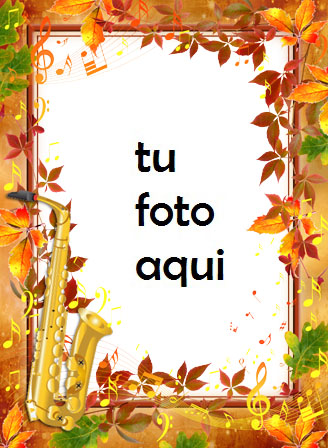Marco Para Foto Melodía de otoño Otoño Marcos - Marco Para Foto Melodía de otoño Otoño Marcos