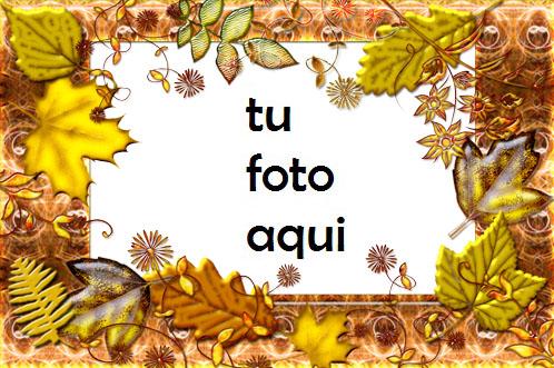 Marco Para Foto Otoño hoja caída Otoño Marcos - Marco Para Foto Otoño hoja caída Otoño Marcos