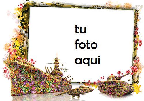 Marco Para Foto defensor floral del ejército de la patria Otoño Marcos - Marco Para Foto defensor floral del ejército de la patria Otoño Marcos