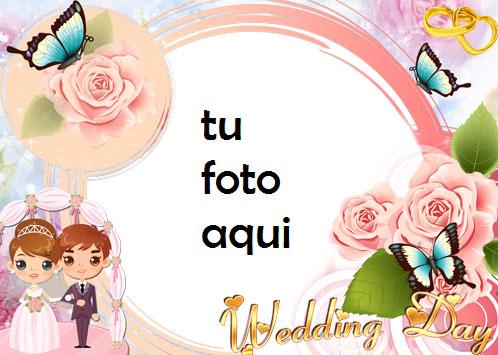 Mariposas Y Matrimonio Marco Para Foto - Mariposas Y Matrimonio Marco Para Foto