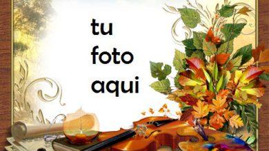 Photo of Melodía Y Colores De Otoño Marco Para Foto