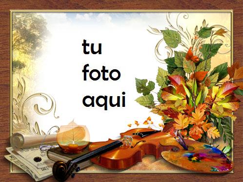 Melodía Y Colores De Otoño Marco Para Foto - Melodía Y Colores De Otoño Marco Para Foto