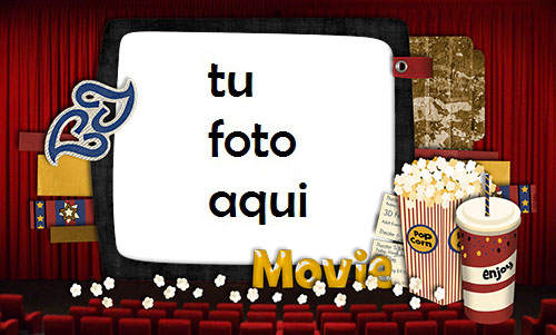 Mira Películas Con Un Amigo Marco Para Foto - Mira Películas Con Un Amigo Marco Para Foto
