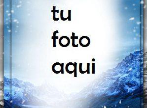 Photo of Montañas Azules De Invierno Marco Para Foto