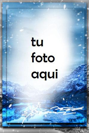 Montañas Azules De Invierno Marco Para Foto - Montañas Azules De Invierno Marco Para Foto