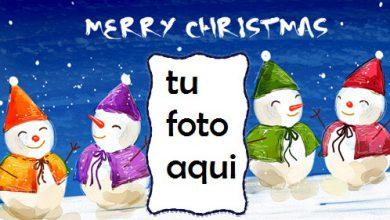 Muñeco De Nieve Feliz Navidad Marco Para Foto 390x220 - Muñeco De Nieve Feliz Navidad Marco Para Foto