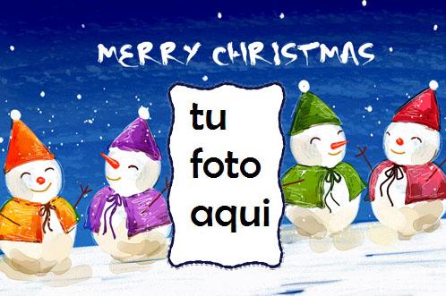 Muñeco De Nieve Feliz Navidad Marco Para Foto - Muñeco De Nieve Feliz Navidad Marco Para Foto