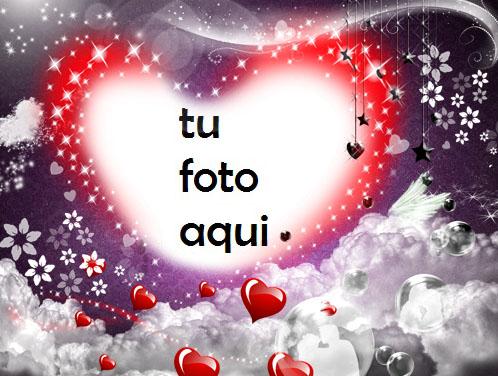 Nuestro Gran Amor Con Un Hermoso Corazón Rojo Romántico Marco Para Foto - Nuestro Gran Amor Con Un Hermoso Corazón Rojo Romántico Marco Para Foto