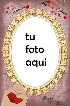 Nuestros corazones juntos Marco Para Foto - Nuestros corazones juntos Marco Para Foto
