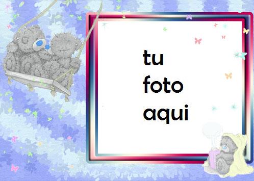 Oso De Peluche Romántico Marco Para Foto - Oso De Peluche Romántico Marco Para Foto