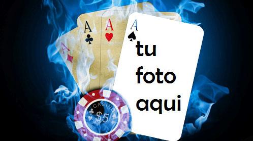 Póker Cuatro De Tipo Marco Para Foto - Póker Cuatro De Tipo Marco Para Foto
