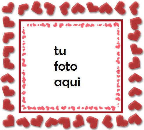 Pequeños Corazones De Amor Marco Para Foto - Pequeños Corazones De Amor Marco Para Foto