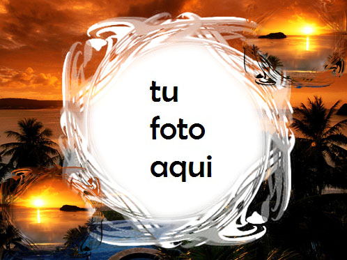 Puesta De Sol Sobre El Agua Marco Para Foto - Puesta De Sol Sobre El Agua Marco Para Foto