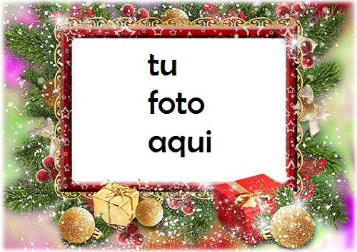 Regalos De Año Nuevo En La Nieve Marco Para Foto - Regalos De Año Nuevo En La Nieve Marco Para Foto
