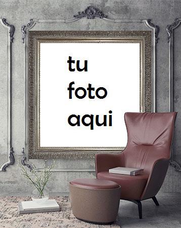 Retrato Detrás Del Sillón Marco Para Foto - Retrato Detrás Del Sillón Marco Para Foto