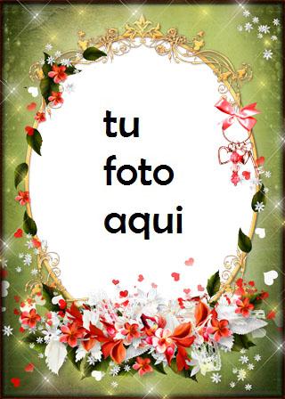 Románticas flores rojas para los seres queridos Marco Para Foto - Románticas flores rojas para los seres queridos Marco Para Foto