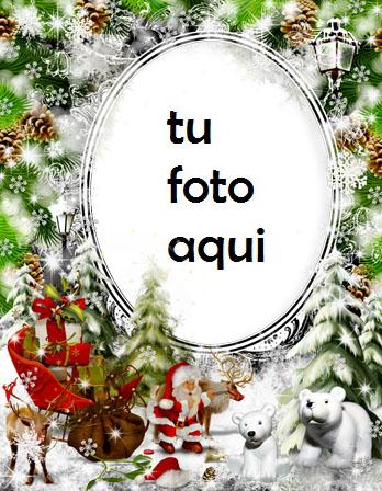 Santa Claus Lleva Regalos Marco Para Foto - Santa Claus Lleva Regalos Marco Para Foto