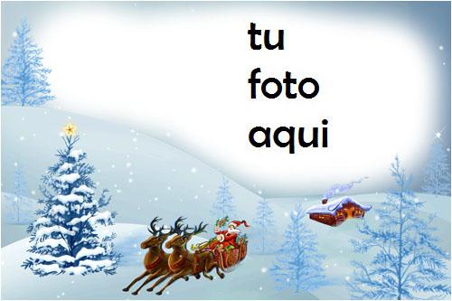 Santa Viene Marco Para Foto - Santa Viene Marco Para Foto