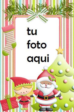 Santa Y El Asistente Mágico Marco Para Foto - Santa Y El Asistente Mágico Marco Para Foto