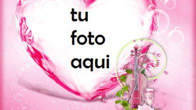 Photo of Se elevó al corazón rojo más hermoso con gran amor Marco Para Foto