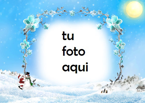 Soleado Día De Navidad Marco Para Foto - Soleado Día De Navidad Marco Para Foto