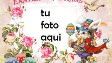 Photo of Tarjeta De Saludos De Pascua Vintage Marco Para Foto