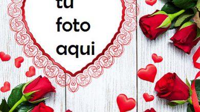 Photo of Un Corazón Rojo Delgado Y Hermoso Para El Día De San Valentín Marco Para Foto