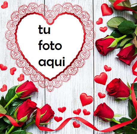 Un Corazón Rojo Delgado Y Hermoso Para El Día De San Valentín Marco Para Foto - Un Corazón Rojo Delgado Y Hermoso Para El Día De San Valentín Marco Para Foto