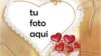Photo of Un Gran Corazón Para Novios Marco Para Foto