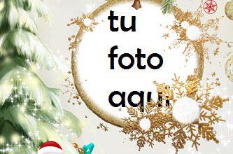 Photo of Un Hermoso Marco Dorado Para Navidad Marco Para Foto